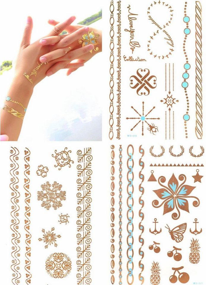 schmuck tattoos 3d flash tattoos gold tattoos mit 3d. Black Bedroom Furniture Sets. Home Design Ideas