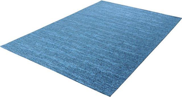 Teppich »Kapstadt uni«, THEKO, rechteckig, Höhe 5 mm | Heimtextilien > Teppiche > Sonstige-Teppiche | Blau | Acryl | THEKO