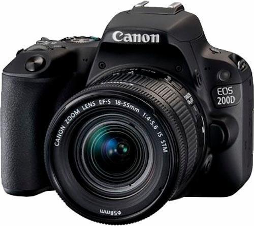 Spiegelreflexkameras - Canon EOS 200D Spiegelreflex Kamera, EF S 18 55mm f 4 5,6 IS STM Zoom, 24,2 Megapixel  - Onlineshop OTTO