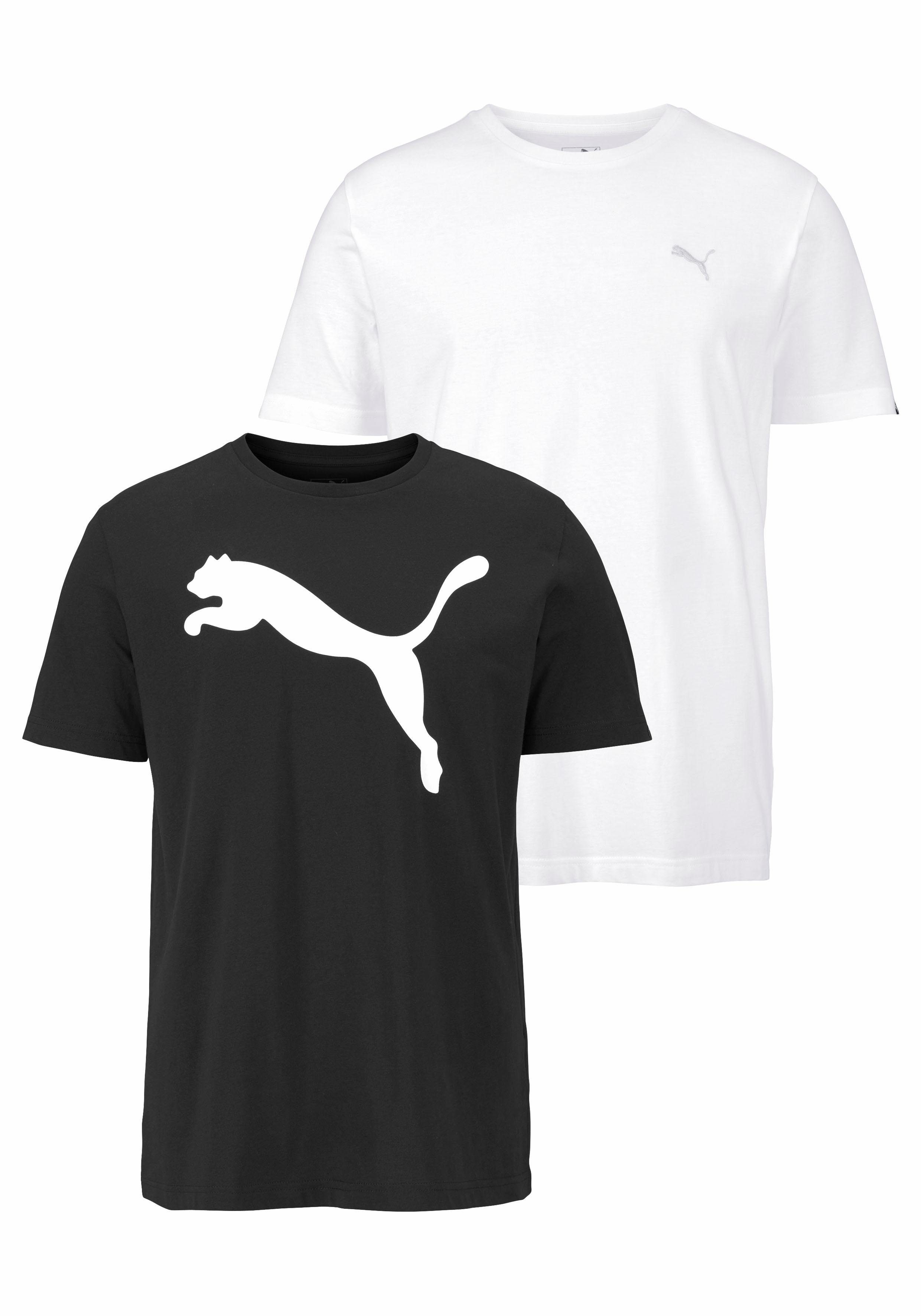 PUMA T Shirt »MENS TEE PACK PF 2« (Packung, 2 tlg., 2er Pack) online kaufen | OTTO