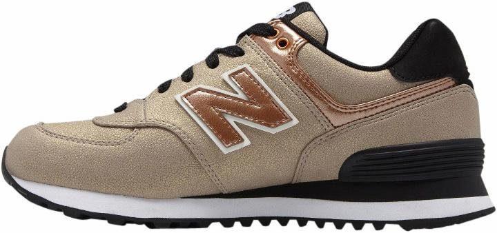 New Balance »WL 574« Sneaker, silberfarben, silberfarben