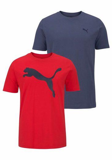PUMA T-Shirt MENS TEE PACK PF 2, im Doppelpack