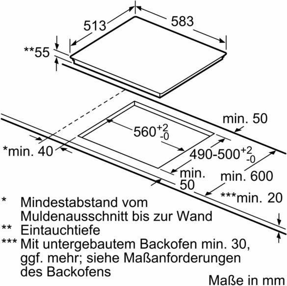 SIEMENS Induktions-Kochfeld von SCHOTT CERAN EH645BEB1E, mit Timer