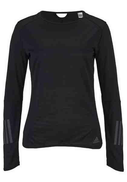 adidas Performance Langarmshirt »RESPONSE LONGSLEEVES TEE WOMEN«, mit Daumenlöchern