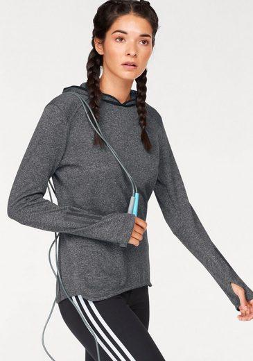 adidas Performance Laufshirt RESPONSE HOODIE WOMEN, mit praktischen Daumenlöchern