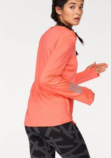adidas Performance Langarmshirt RESPONSE LONGSLEEVES TEE WOMEN, mit Daumenlöchern