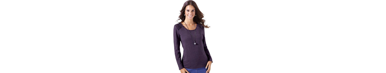 Classic Inspirationen Shirt mit dekorativem Spitzen-Einsatz Verkauf Komfortabel Billig Kaufen PJK0iRl9Kw
