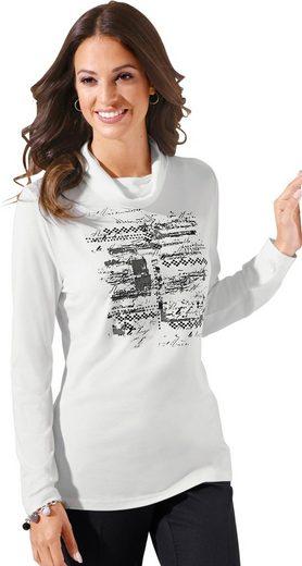 Classic Inspirationen Rollkragen-Shirt mit platziertem Druck