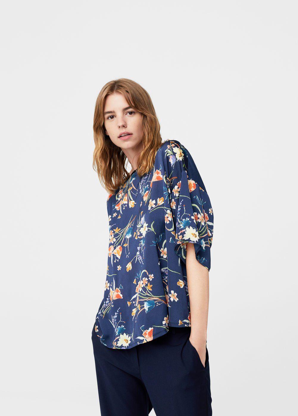 MANGO T-Shirt mit Kontrast-Design