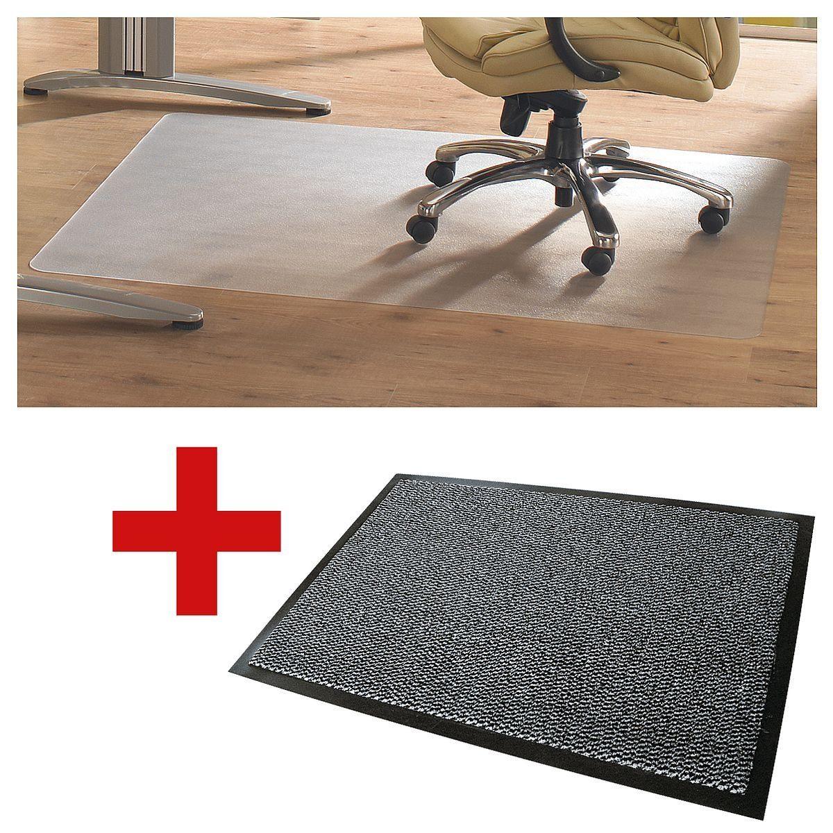 Floortex Bodenschutz- und Schmutzfangmatte im Set