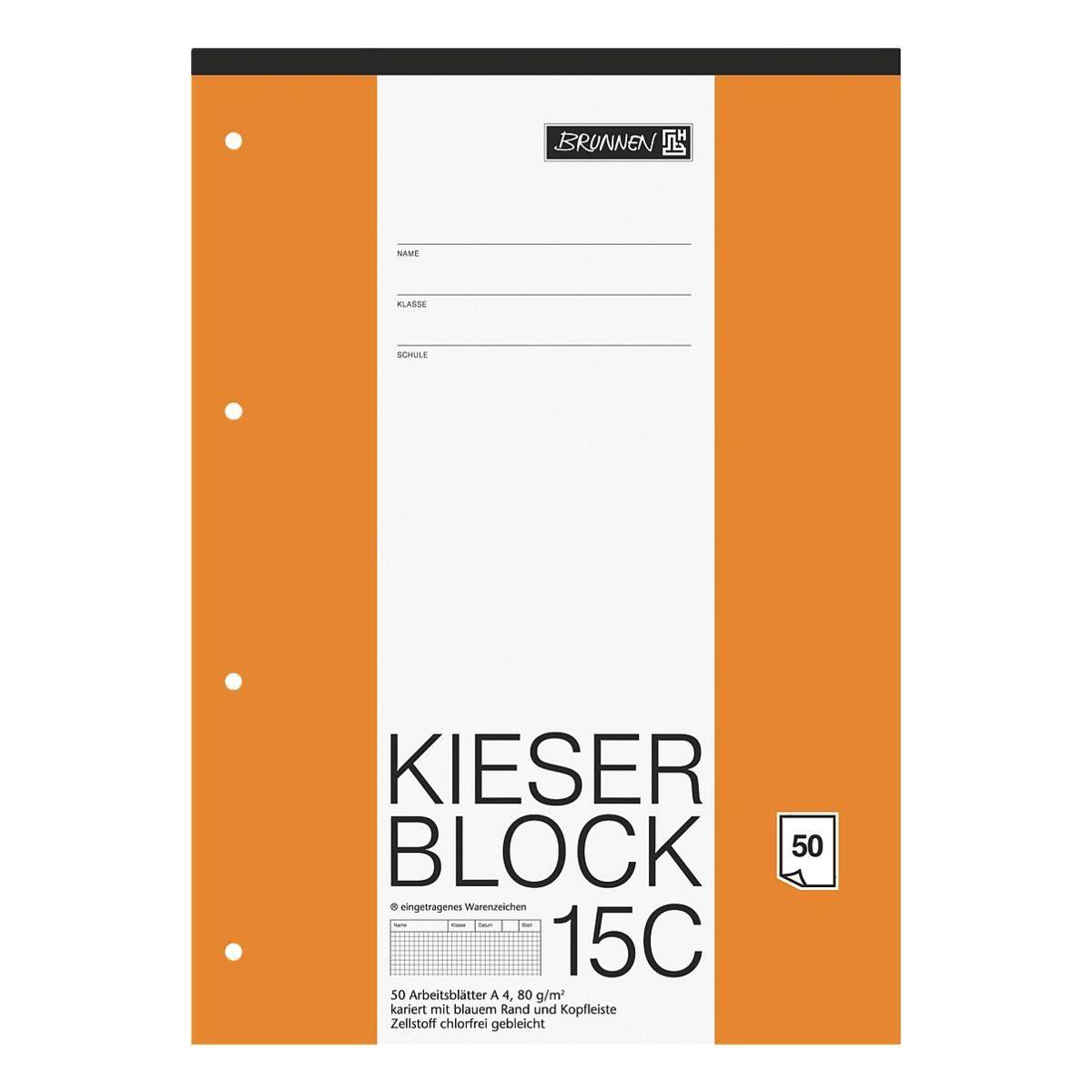 BRUNNEN Kieserblock A4 Sonderlineatur (Lineatur 22) »KIESER 07 0015 C 1042925«