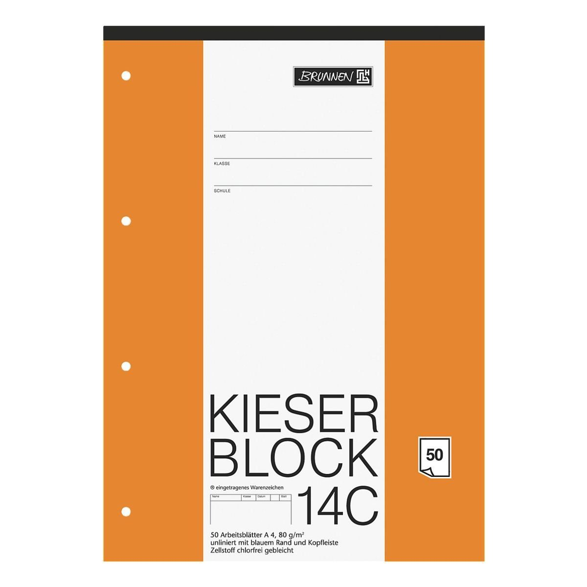 BRUNNEN Kieserblock A4 Sonderlineatur (Lineatur 20) »KIESER 07 0014 C 1042924«