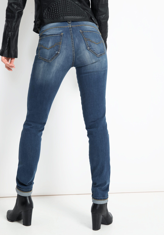 Damen H.I.S Jeans Amber blau, schwarz   04050347690538