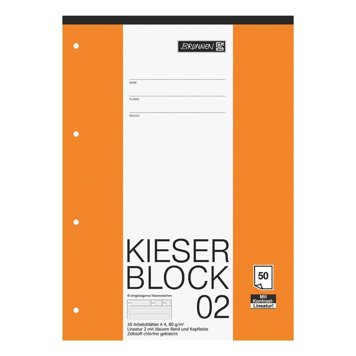 BRUNNEN Kieserblock A4 Sonderlineatur (Lineatur 2) »KIESER 22200 1042942«