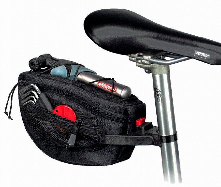 klickfix fahrradtasche satteltasche contoura schwarz. Black Bedroom Furniture Sets. Home Design Ideas