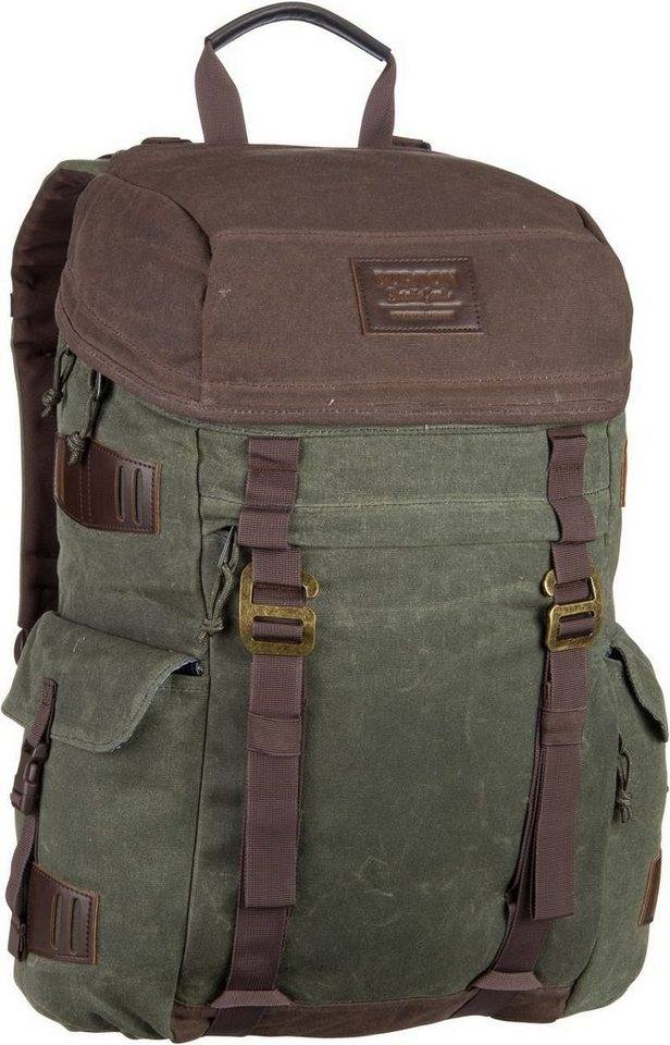 Burton Annex Pack Waxed Canvas Forest Night - Laptoprucksack - broschei