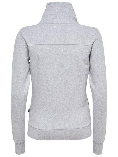 Only Play Robustes Sweatshirt mit Stehkragen