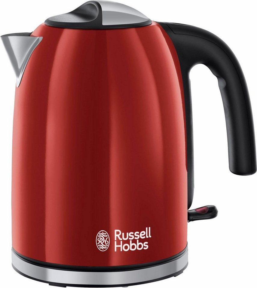 russell hobbs wasserkocher colours plus flame red 20412 70 1 7 liter 2400 watt edelstahl. Black Bedroom Furniture Sets. Home Design Ideas