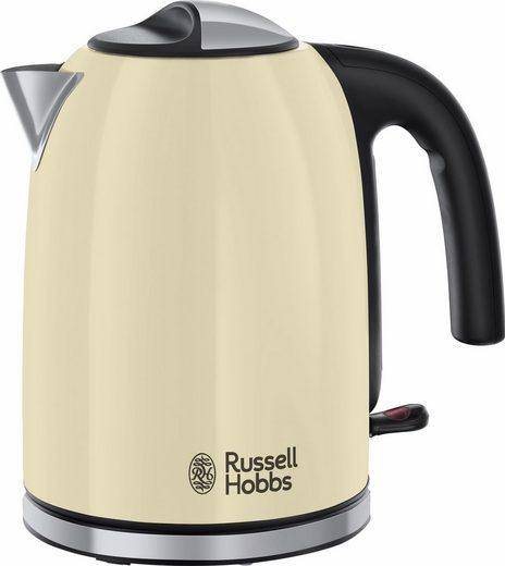 RUSSELL HOBBS Wasserkocher 20415-70 Colours Plus+ Cream WK, 1,7 l, 2400 W