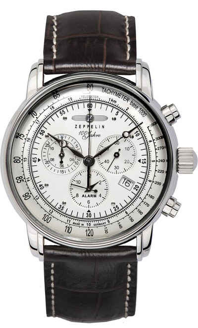 ZEPPELIN Chronograph »100 Jahre Zeppelin, 7680-1«, Made in Germany