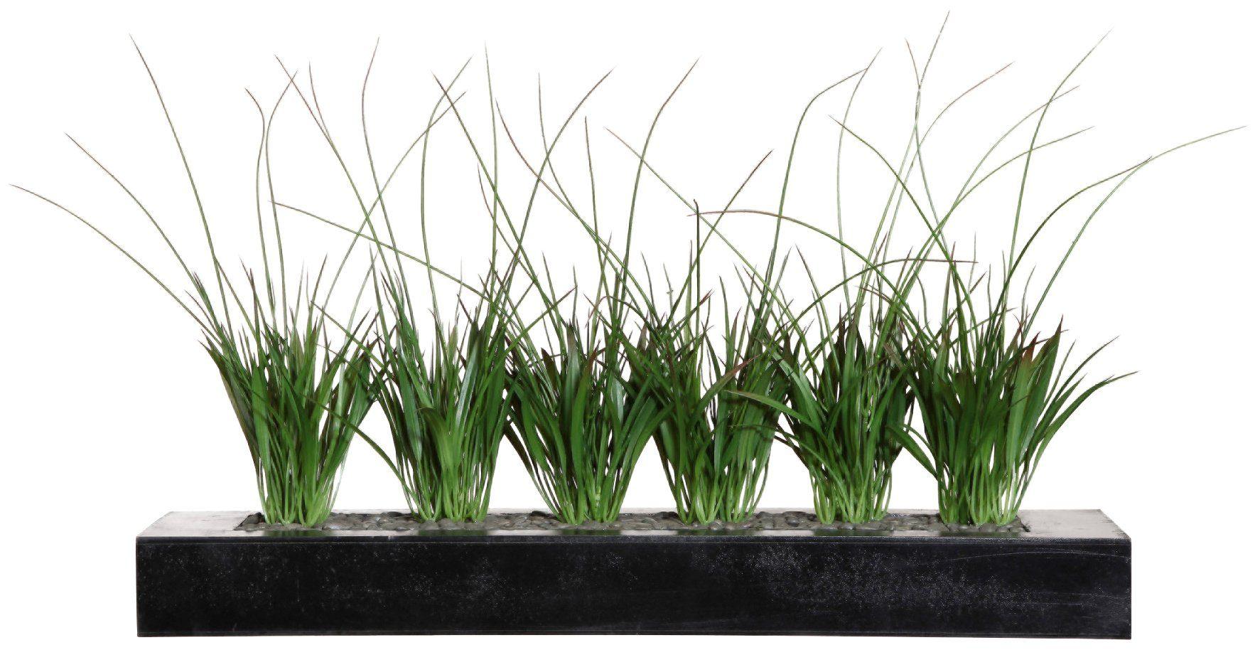Kunstpflanze »Mini-Raumteiler mit Gras«, aus Holz, BxTxH: 63x15x6 cm