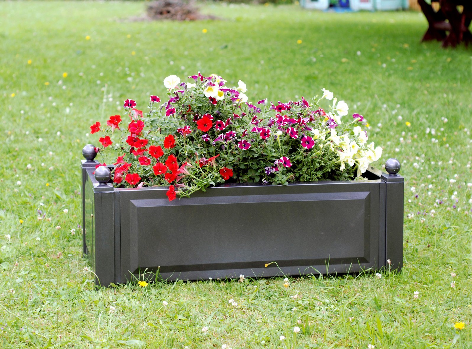 Pflanzkasten anthrazit , 100 cm | Garten > Pflanzen > Pflanzkästen | KHW