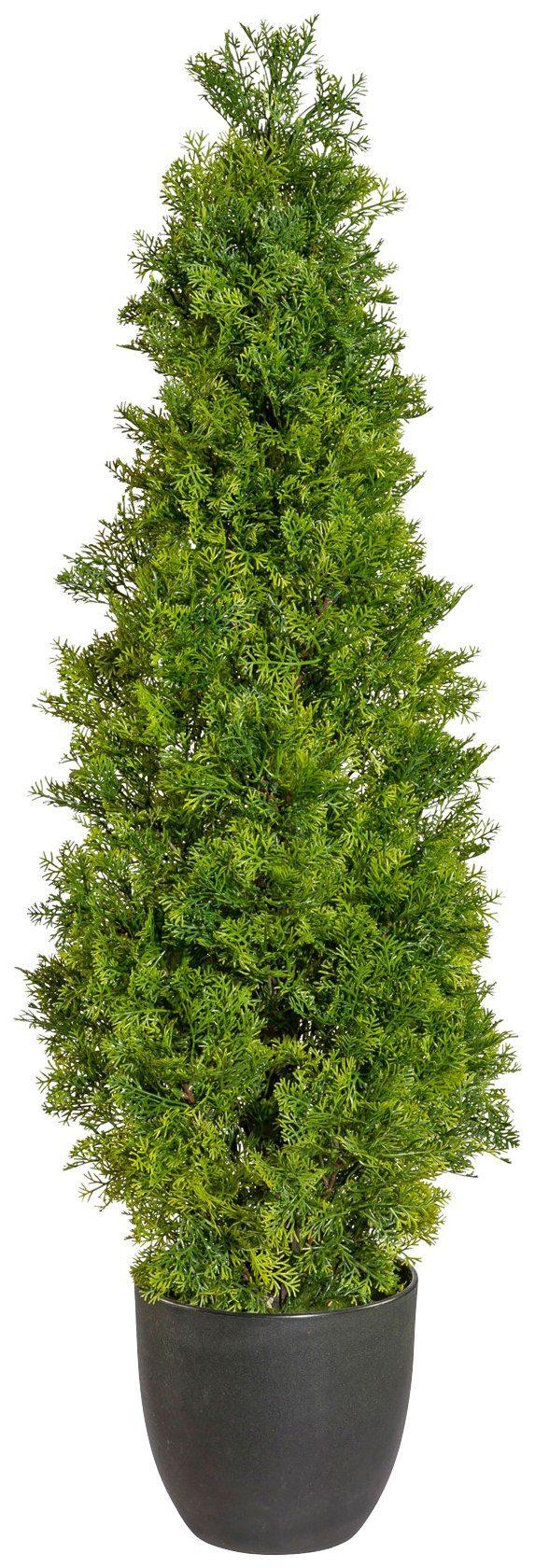 Kunstpflanze »Zypressenpyramide«, im Kunststofftopf, H: 100 cm
