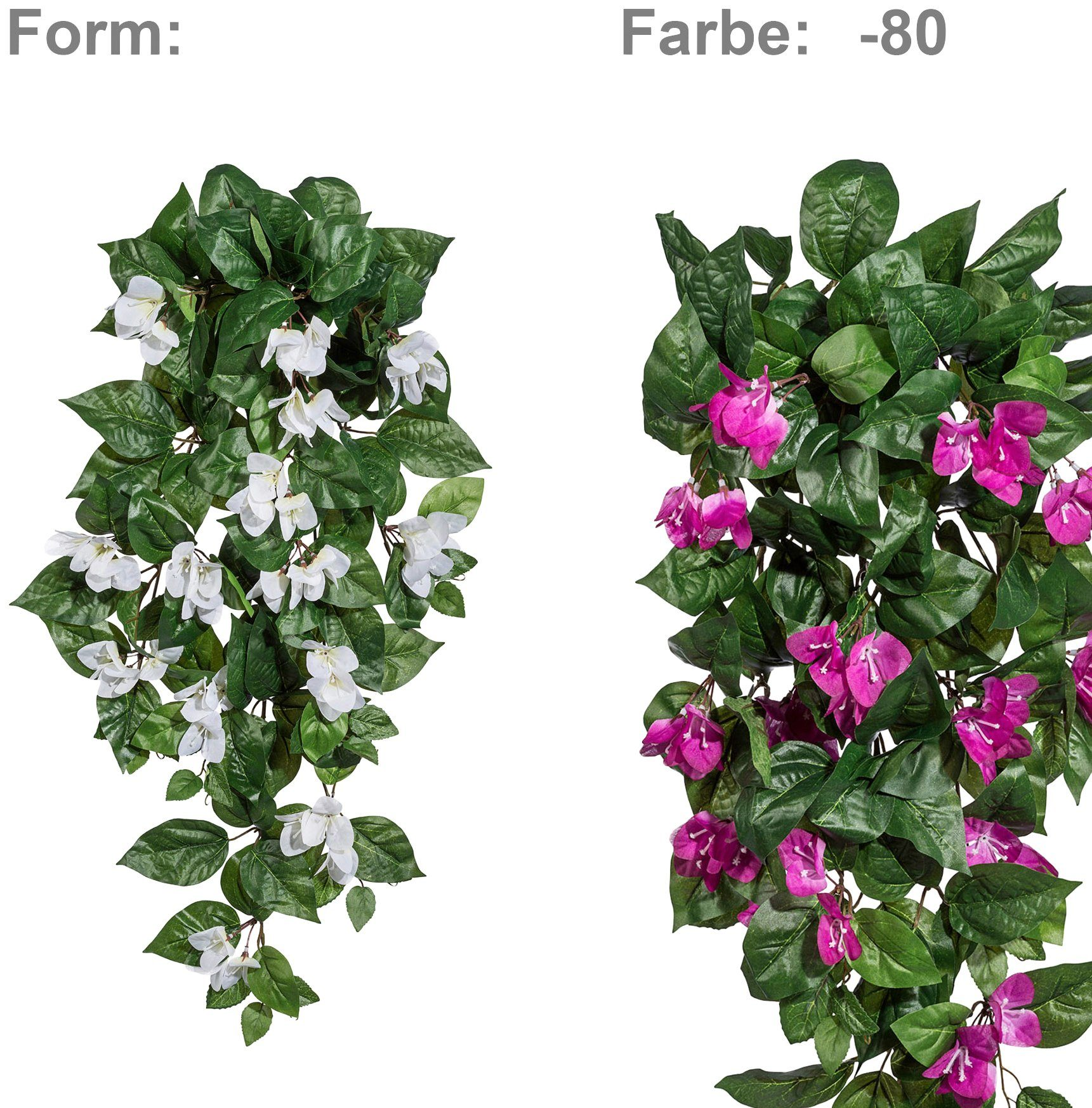 Kunstpflanze »Bougainvillea-Hänger«, Höhe 70 cm, lila