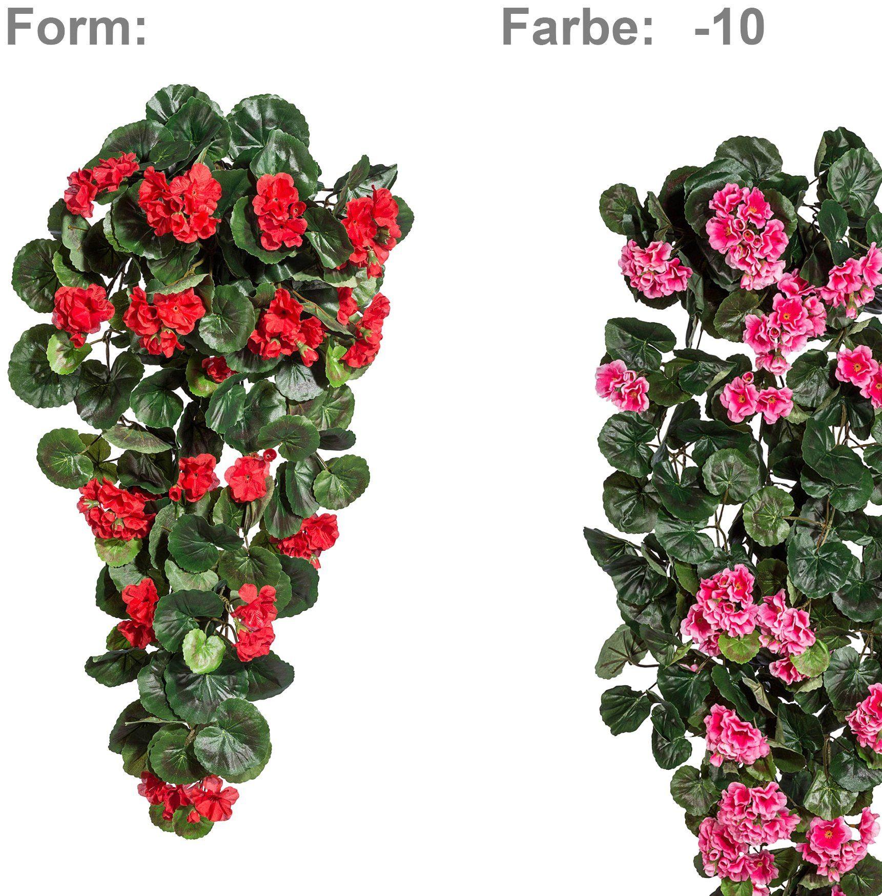 Kunstpflanze »Geranien-Hänger«, Höhe 70 cm, pink