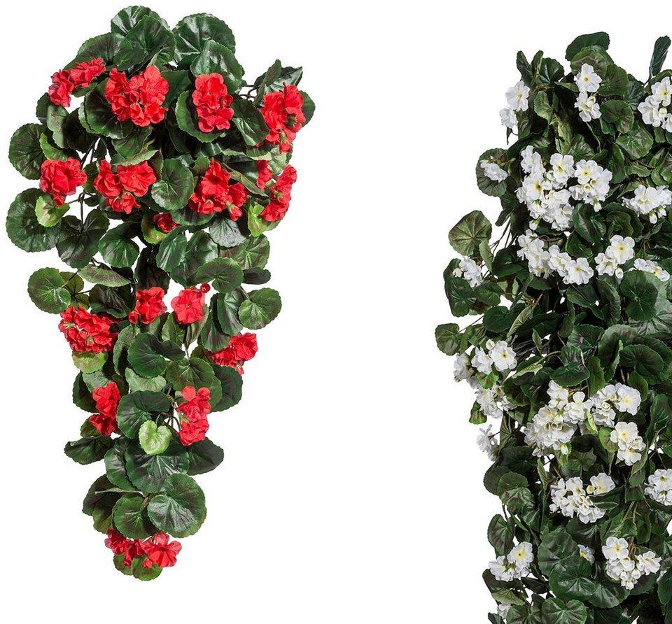 kunstpflanze geranien h nger h he 70 cm wei otto. Black Bedroom Furniture Sets. Home Design Ideas