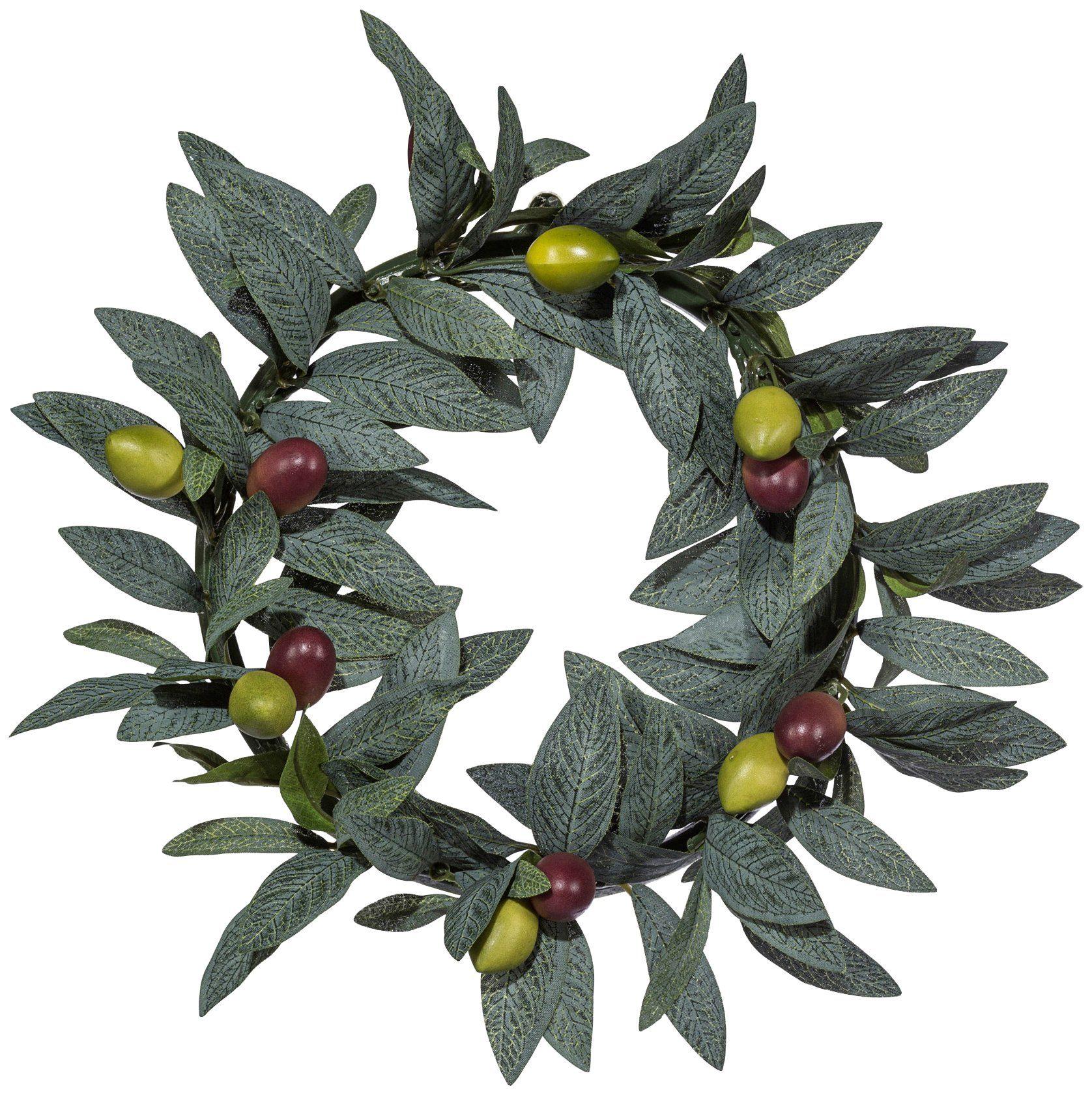 Kunstpflanze »Olivenkranz«, Ø: 25 cm