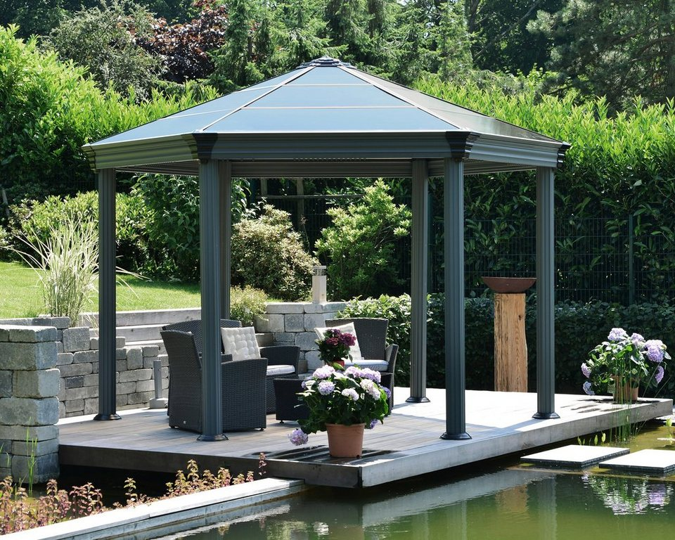 palram pavillon roma b l h 359 414 5 304 6 cm bronze grau online kaufen otto. Black Bedroom Furniture Sets. Home Design Ideas
