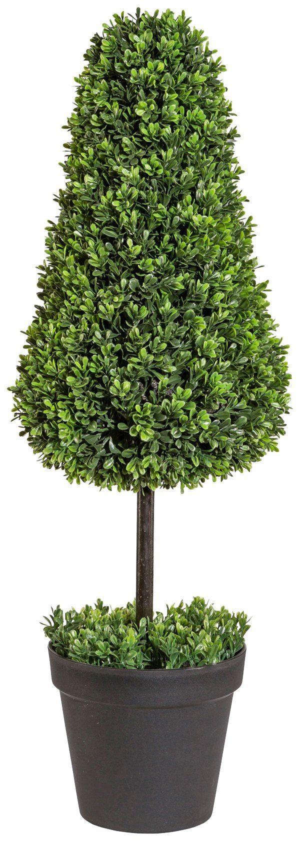 Kunstpflanze »Buchsbaumkegel auf Stamm«, im Kunststofftopf, ØxH: 30x85 cm