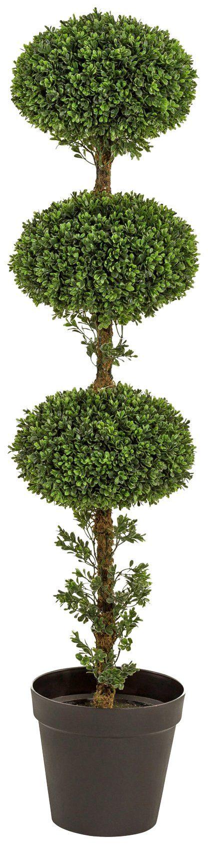 Kunstpflanze »Buchskugelbaum«, im Kunststofftopf, ØxH: 30x145 cm