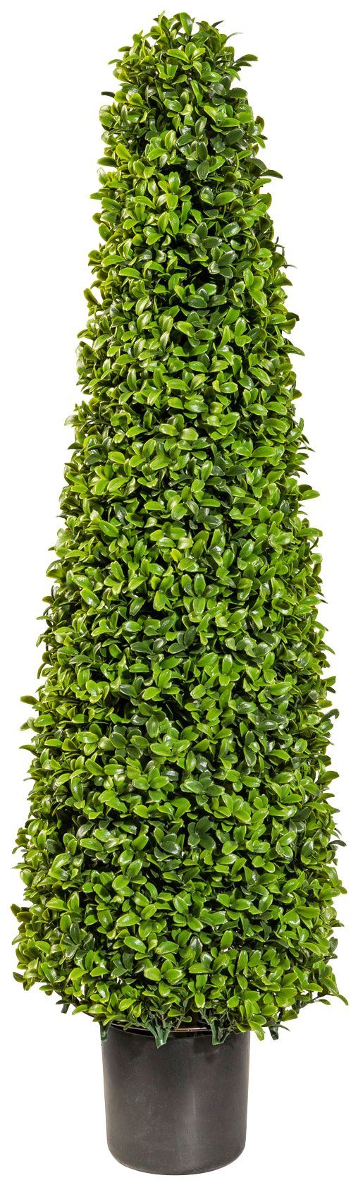 Kunstpflanze »Buchsbaum in Kegelform«, im Kunststofftopf, H: 90 cm