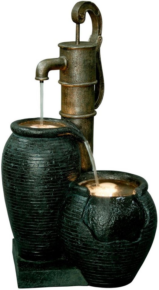 DOBAR Gartenbrunnen , B/T/H: 47,5/38,5/84 cm | Garten > Brunnen | Schwarz | dobar