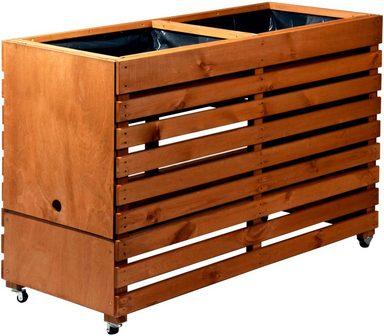 dobar hochbeet gr xxl b t h 115 45 75 cm auf rollen mit 2 pflanzk sten online kaufen otto. Black Bedroom Furniture Sets. Home Design Ideas