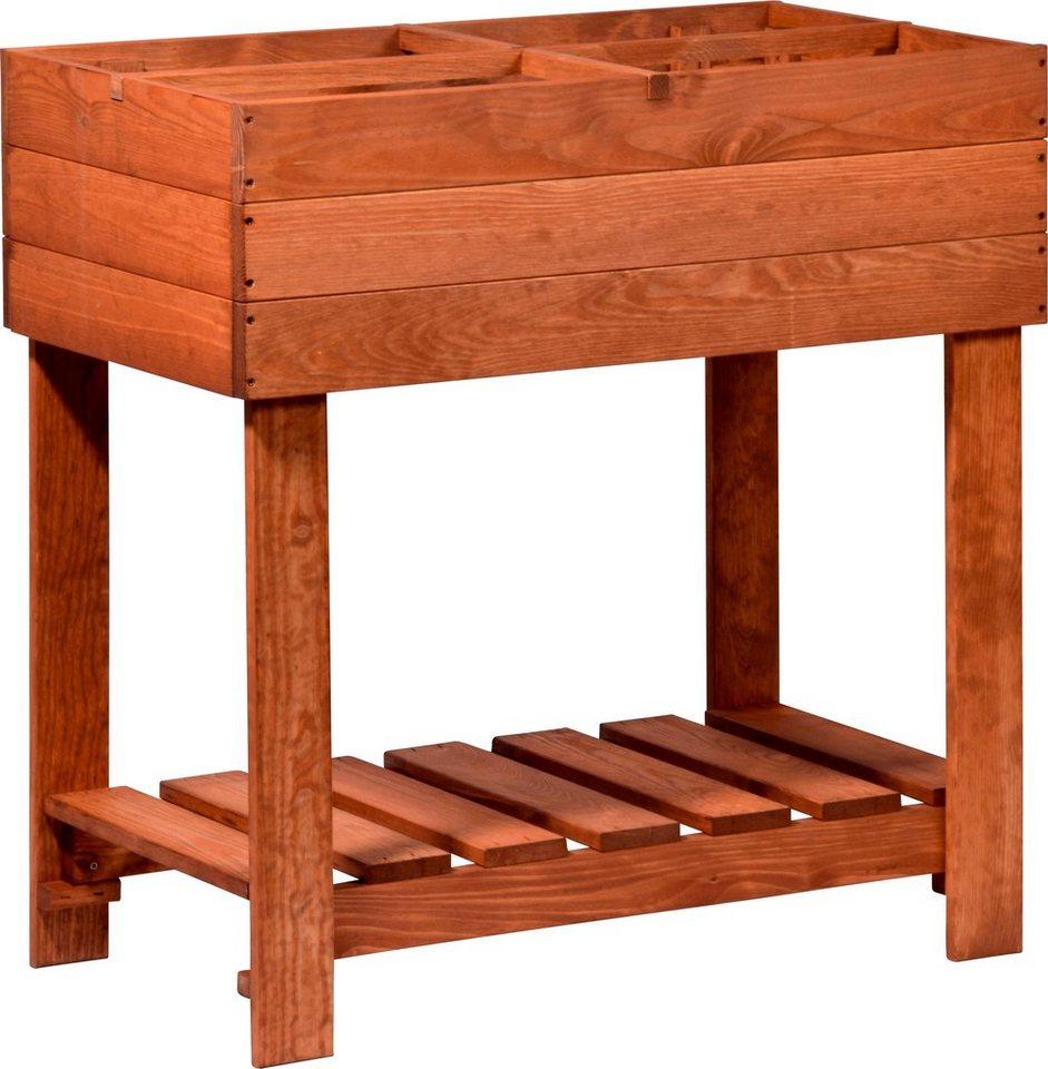 dobar hochbeet b t h 78 39 80 cm mit zinkwanne und ablagefl che online kaufen otto. Black Bedroom Furniture Sets. Home Design Ideas