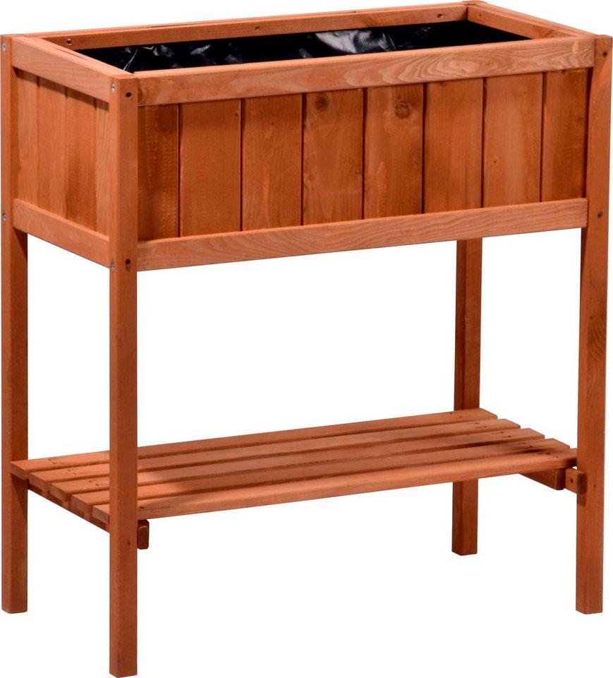 dobar hochbeet b t h 76 40 80 cm mit ablagefl che online kaufen otto. Black Bedroom Furniture Sets. Home Design Ideas