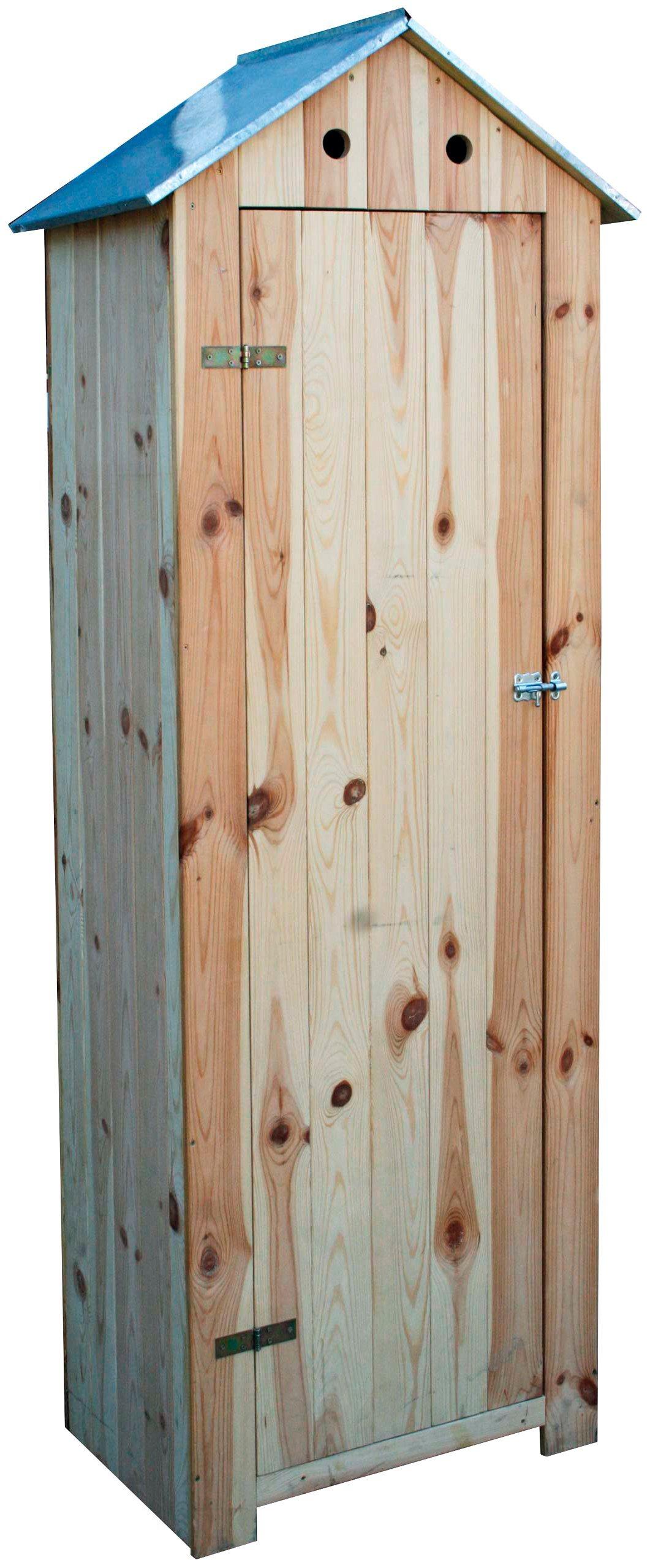 DOBAR Geräteschrank , B/T/H: 130/40/185 cm, natur | Garten > Gerätehäuser | dobar