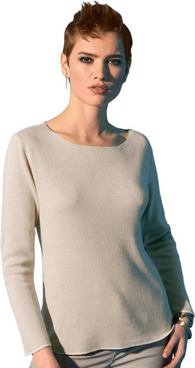Création L Pullover im feinen Strickmuster