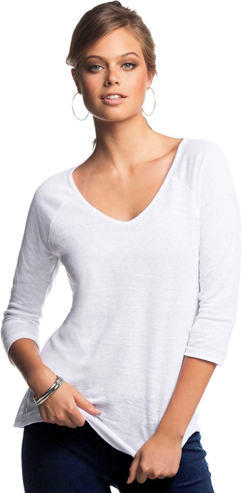 Création L Shirt in effektvoller Flammgarn-Qualität