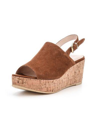 Bianco Wildleder Keilabsatz Schuhe