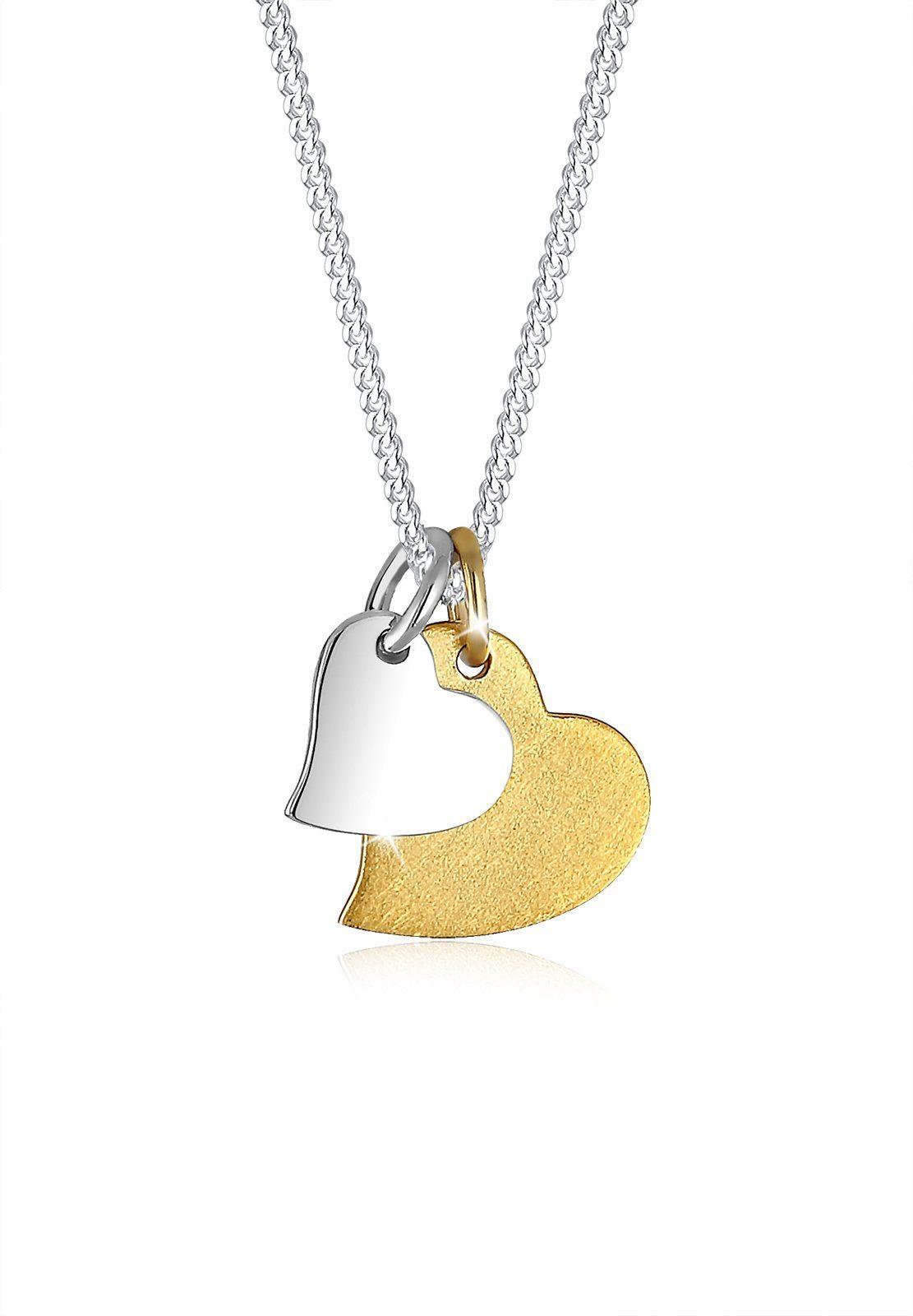Elli Halskette »Herz Bi Color 925 Sterling Silber Lisanne«