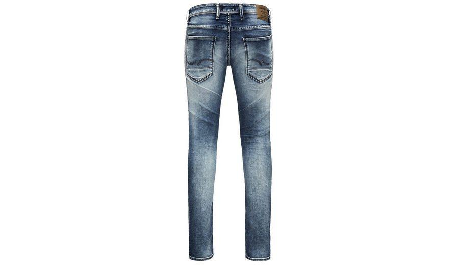 Jack & Jones Glenn Indigo-Strick Slim Fit Jeans Billig Verkauf Perfekt Freies Verschiffen Exklusiv Echt Günstiger Preis Amazon Online Niedrig Versandkosten Günstig Online XEuiGttnBi