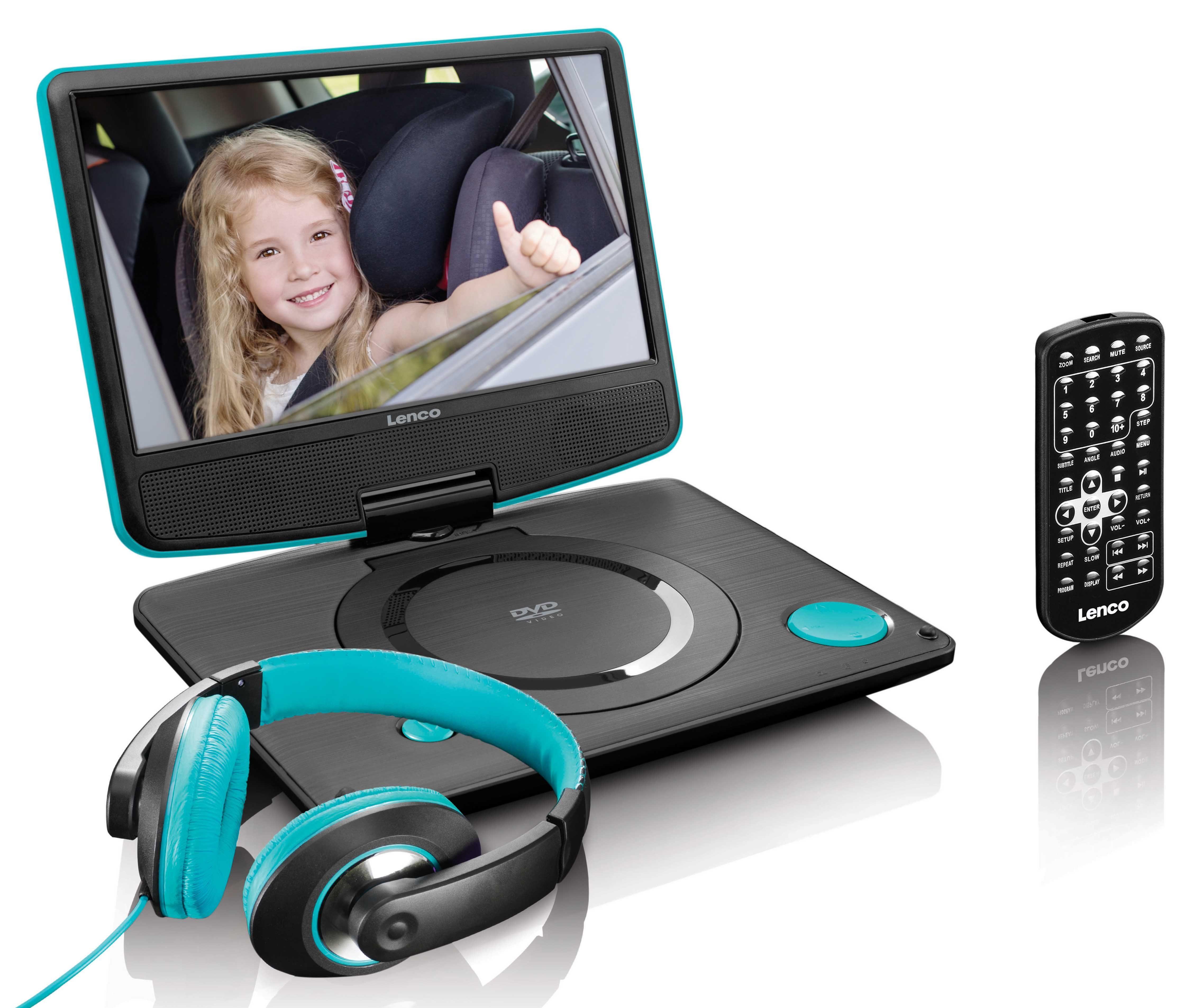 Lenco Tragbarer DVD-Player für KFZ mit Fernbedienung & Kopfhörer »DVP-934«