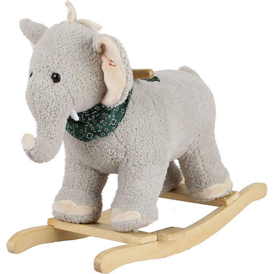 Sweety Toys Sweety Toys Schaukeltier Elefant Grau Mit Halstuch Mit