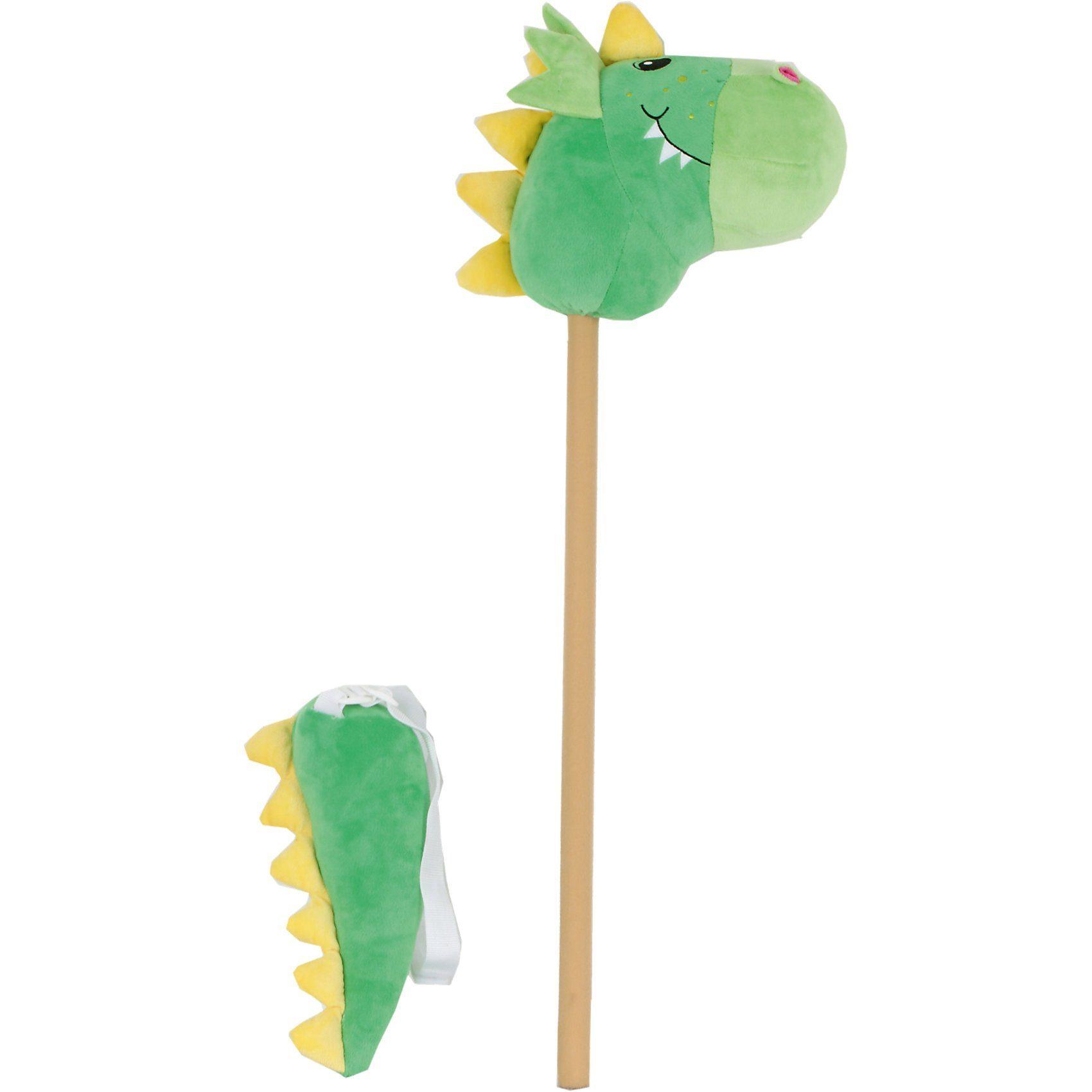 Sweety-Toys Sweety Toys SET Steckenpferd Dinosaurier - GRÜN