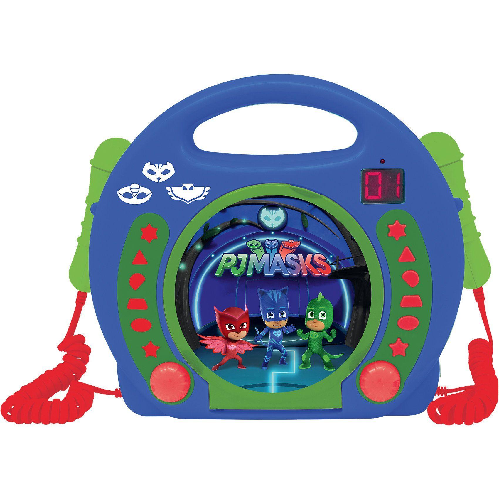 Lexibook® PJ Masks Kinder CD-Player mit 2 Mikrofonen