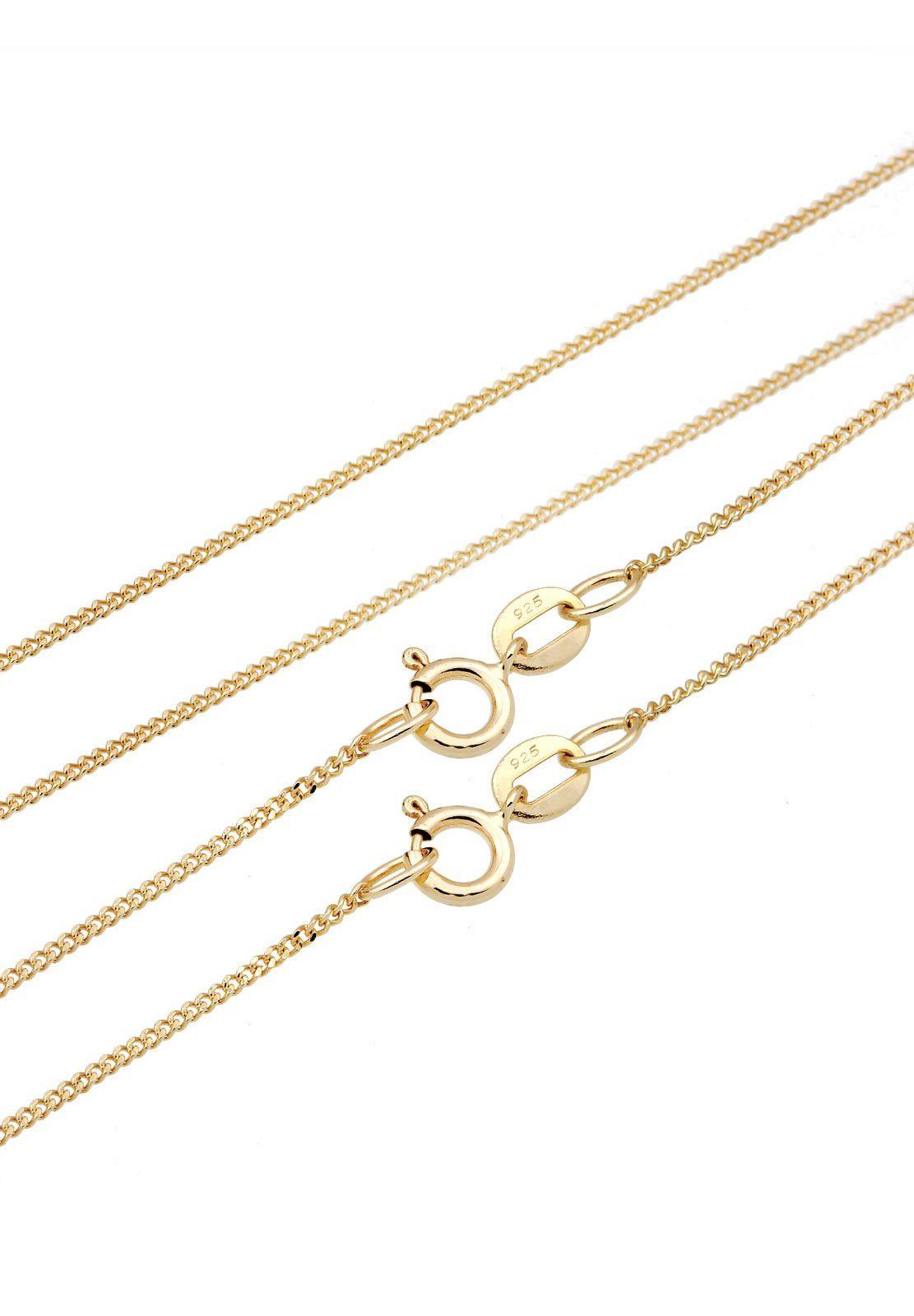 Elli Set: Halskette »Feder Love Layer Boho Howlit 925 Sterling Silber« 3 tlg.